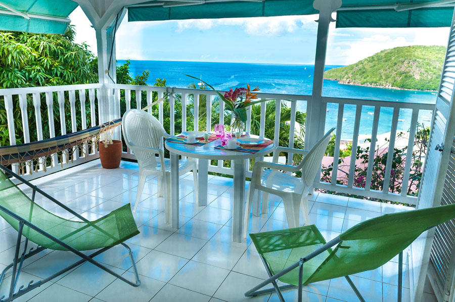 Villa blanche studio terrasse (jusqu'à 2 personnes)